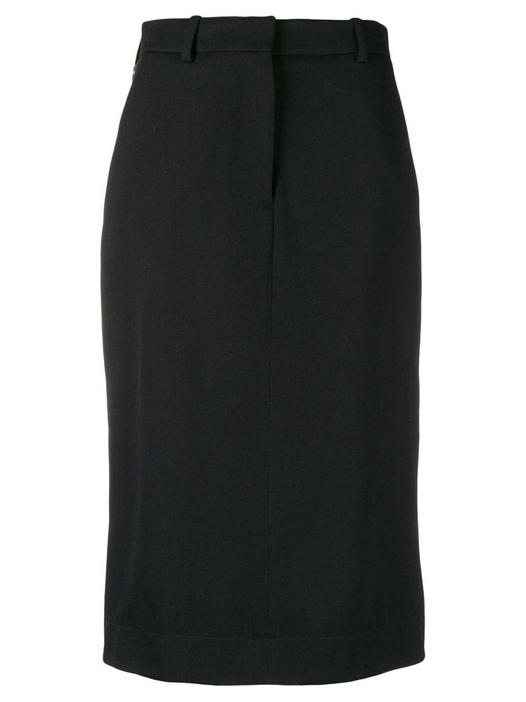 Calvin Klein 205W39nyc side buttoned midi skirt - Black