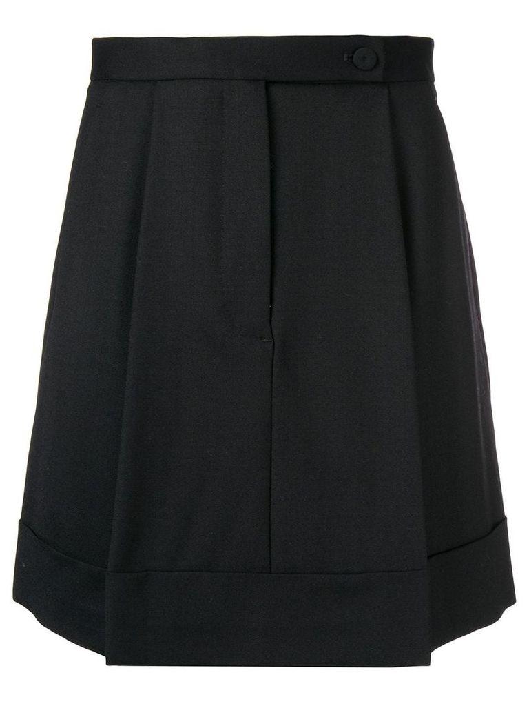 Sara Battaglia pleated skirt - Black