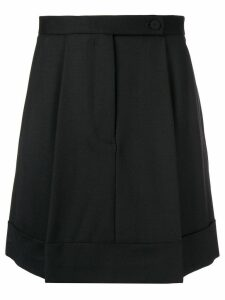 Sara Battaglia pleated skirt - Black