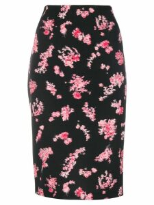 Pinko floral-print pencil skirt - Black