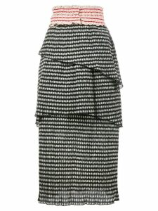Rosie Assoulin gingham tiered skirt - Black
