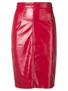 Fiorucci Margot vinyl skirt - Red