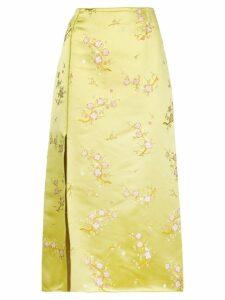 Kenzo floral print midi skirt - Yellow