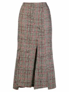 McQ Alexander McQueen checked print fitted skirt - Black