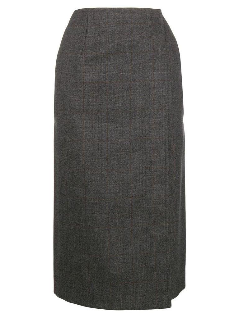 Calvin Klein 205W39nyc checked wrap skirt - Grey