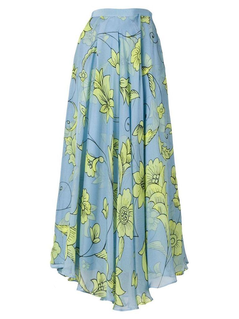 Miahatami pleated floral skirt - Blue