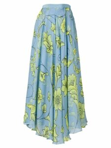 Miahatami pleated floral skirt - Blue