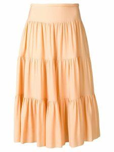 Chloé tiered midi skirt - Neutrals
