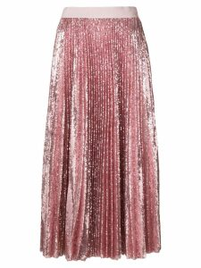 MSGM pleated sequin midi skirt - Pink