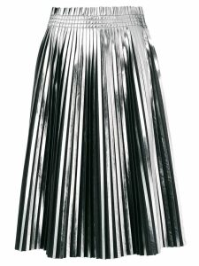 Mm6 Maison Margiela pleated metallic skirt - Black