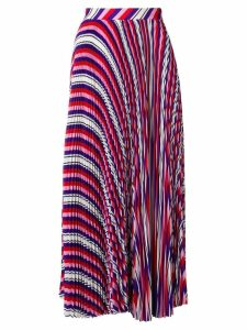 MSGM striped pleated skirt - Multicolour