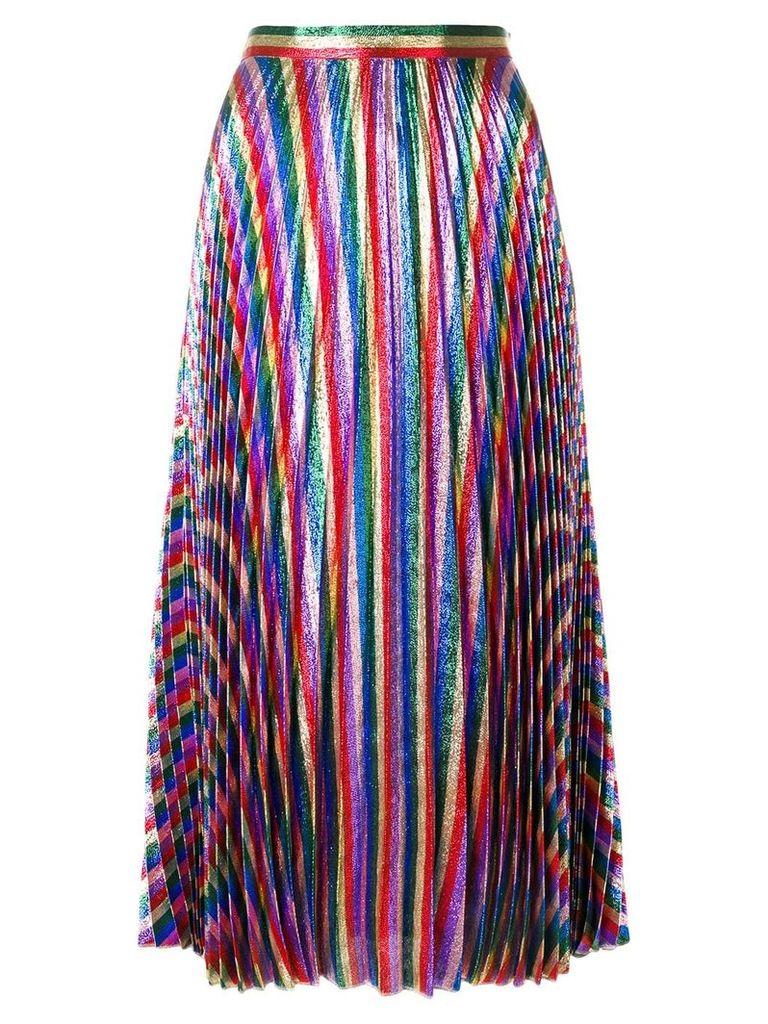 Gucci Iridescent pleated midi skirt - Multicolour