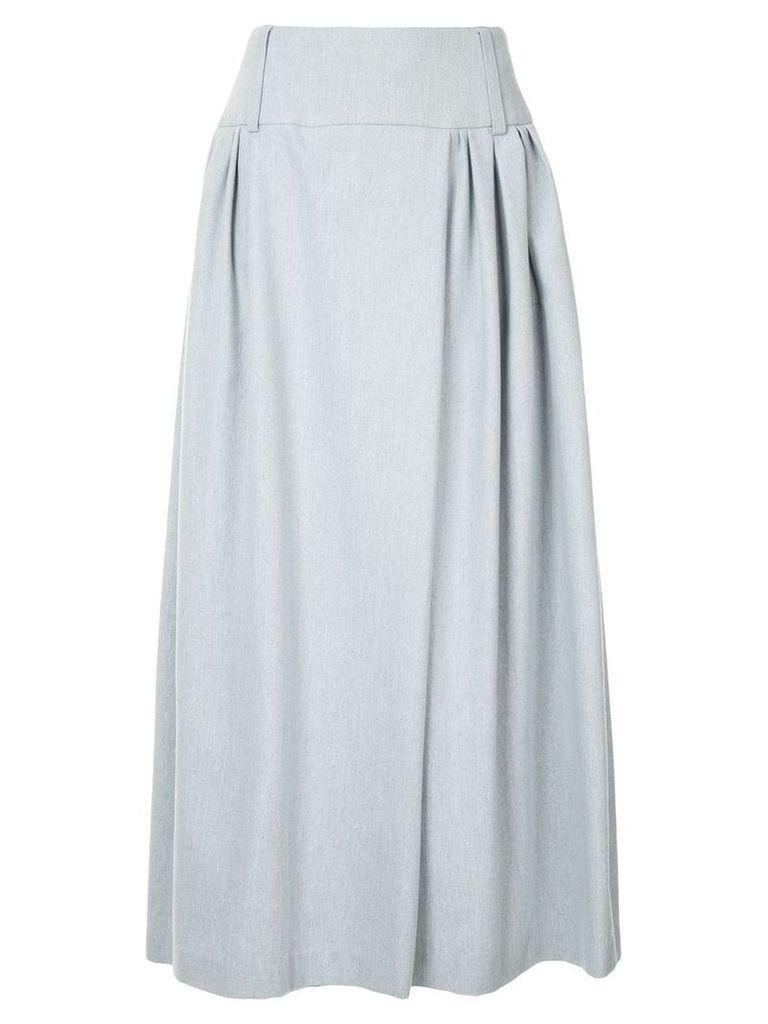 Natasha Zinko pleated midi skirt - Blue