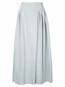Natasha Zinko pleated midi skirt - Blue