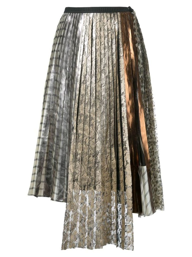 Antonio Marras lace pleated skirt - Metallic