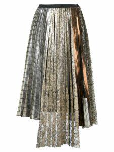 Antonio Marras lace pleated skirt - Metallic