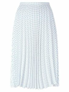 JW Anderson polka dot pleated skirt - White