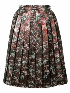 MSGM pleated jacquard skirt - Multicolour