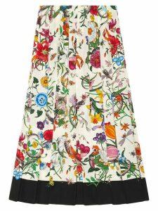 Gucci Flora snake print skirt - Multicolour
