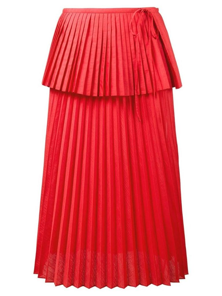 Rosie Assoulin Cranes in the sky skirt - Red