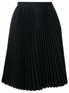 MSGM pleated dot skirt - Black