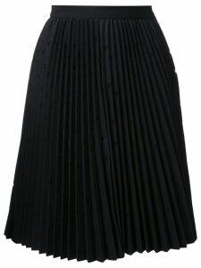 MSGM pleated dot skirt - Black