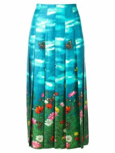 Gucci Garden print skirt - Blue