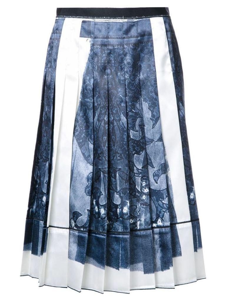 Marc Jacobs trompe-l'ail lace print skirt - Black