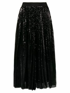 MSGM pleated sequin midi skirt - Black