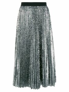 MSGM pleated sequin midi skirt - Metallic