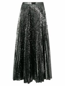 Marco De Vincenzo pleated sequinned skirt - Grey