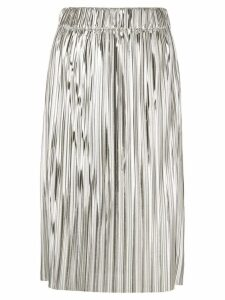 Isabel Marant Étoile pleated full skirt - Metallic