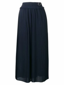 Golden Goose belted pleated skirt - Blue