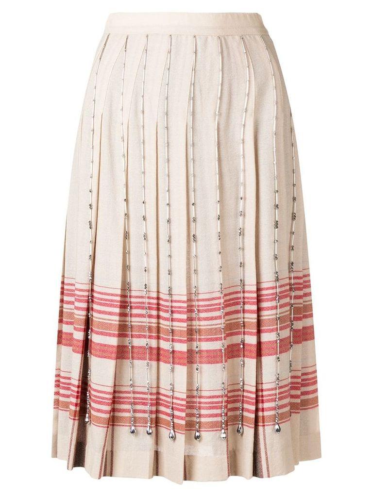 Marco De Vincenzo crystal-embellished skirt - Neutrals