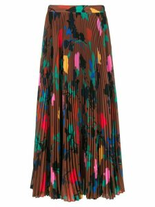 MSGM pleated print skirt - Brown