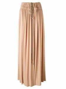 Lanvin drawstring maxi skirt - Pink