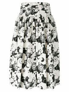 Marc Jacobs floral pleated skirt - White