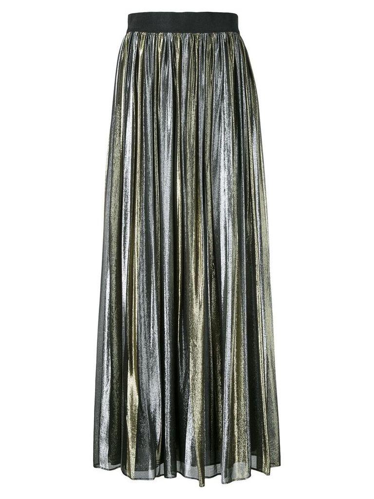 Alice+Olivia Tabetha pleated skirt - Metallic