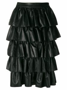 Stella McCartney ruffle midi skirt - Black