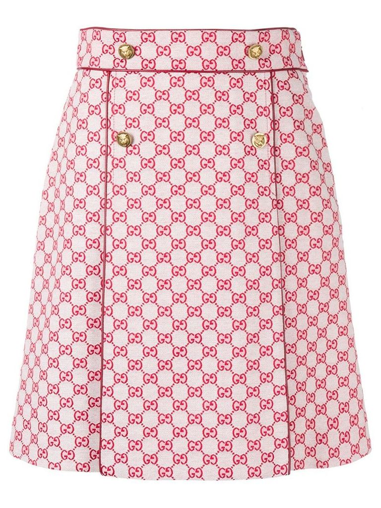 Gucci GG A-line skirt - Red