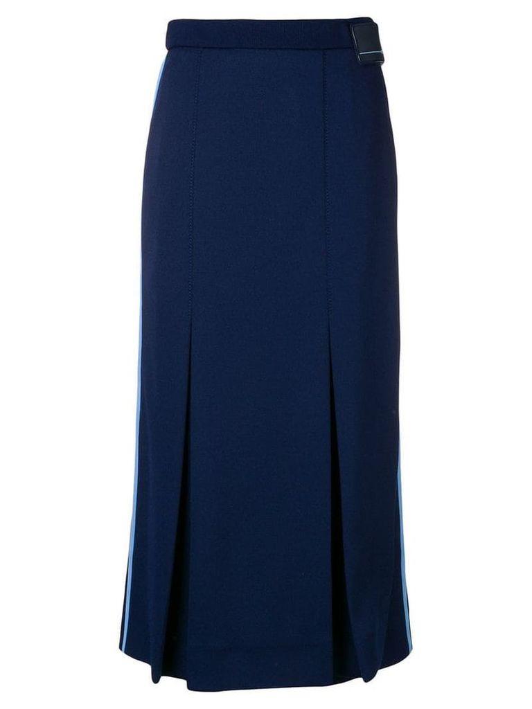 Prada side striped pleated skirt - Blue