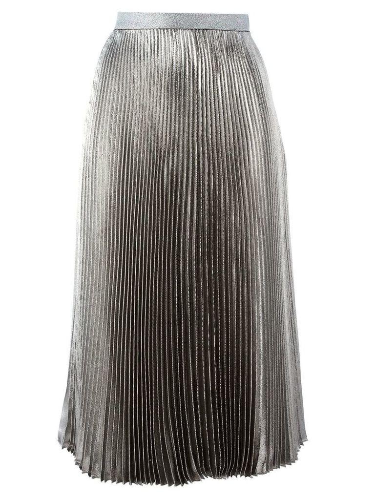 Christopher Kane lamé pleated skirt - Metallic