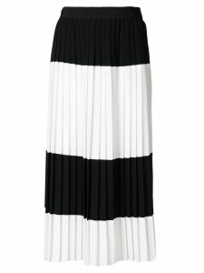Mantu colour contrast pleated skirt - Black
