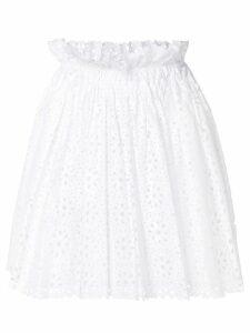 MSGM laser-cut skirt - White