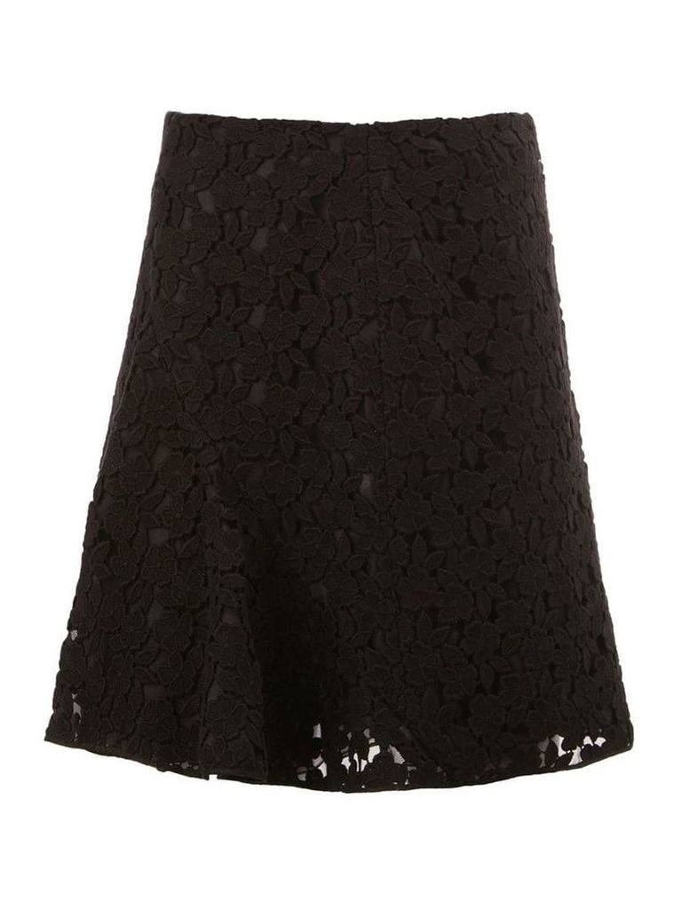 Giambattista Valli lace pleated skirt - Black
