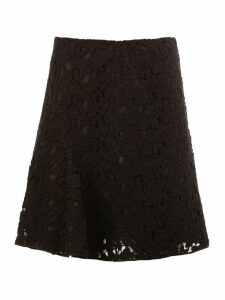 Giambattista Valli lace pleated skirt - Black