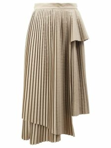 Rokh asymmetric pleated skirt - Neutrals