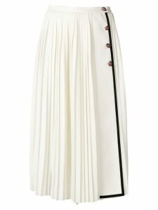 Gucci pleated midi skirt - White