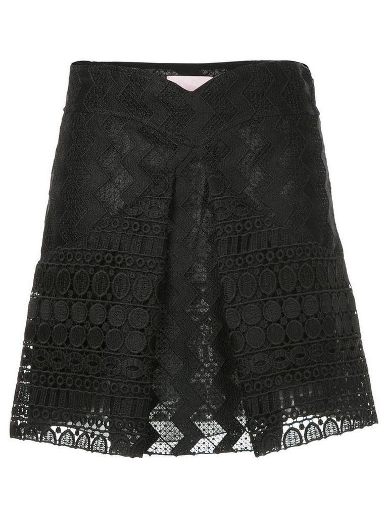 Giamba inverted pleat skirt - Black