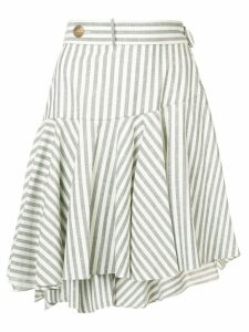 Loewe striped skater skirt - White